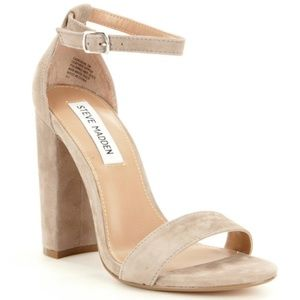 Steve Madden Shoes - Steve Madden Carrson Taupe Gray Suede Heels 7